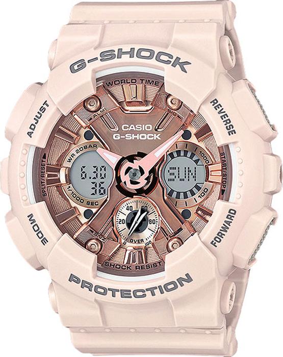 Наручные часы женские Casio G-Shock, цвет: розовый. GMA-S120MF-4AGMA-S120MF-4A