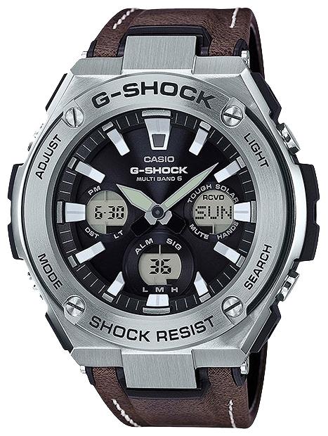 Наручные часы мужские Casio G-Shock, цвет: черный, коричневый. GST-W130L-1AGST-W130L-1A