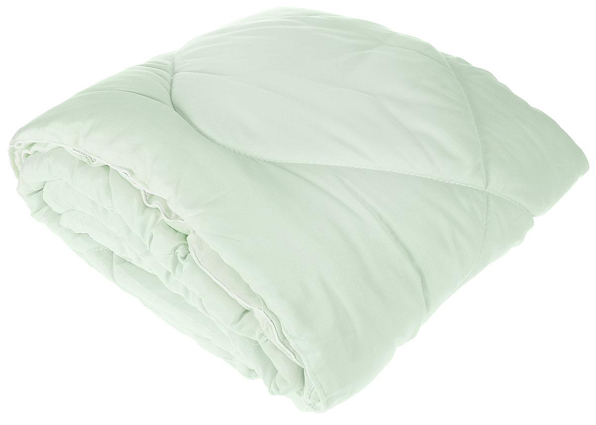 Одеяло Lara Home Bamboo, всесезонное, цвет: зеленый, 172 х 205 см87108Наполнитель: пласт силиконизированное волокно