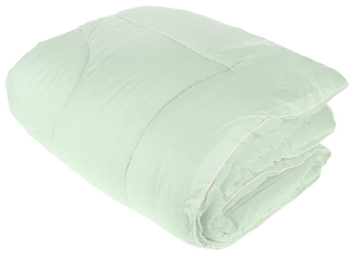Одеяло Lara Home Bamboo, всесезонное, наполнитель: силиконизированное волокно, цвет: зеленый, 200 х 220 см87109Одеяло Lara Home Bamboo подарит комфорт и уют во время сна. Чехол, выполненный из микрофибры (100% полиэфира), оформлен стежкой и надежно удерживает наполнитель внутри. Наполнитель выполнен из силиконизированного волокна. Особенности одеяла: Гипоаллергенные материалы. Необычайная мягкость и легкость. Обеспечивает хорошую терморегуляцию. Обладает расслабляющим эффектом. Препятствует развитию болезнетворных бактерий. Способствует хорошему отдыху.