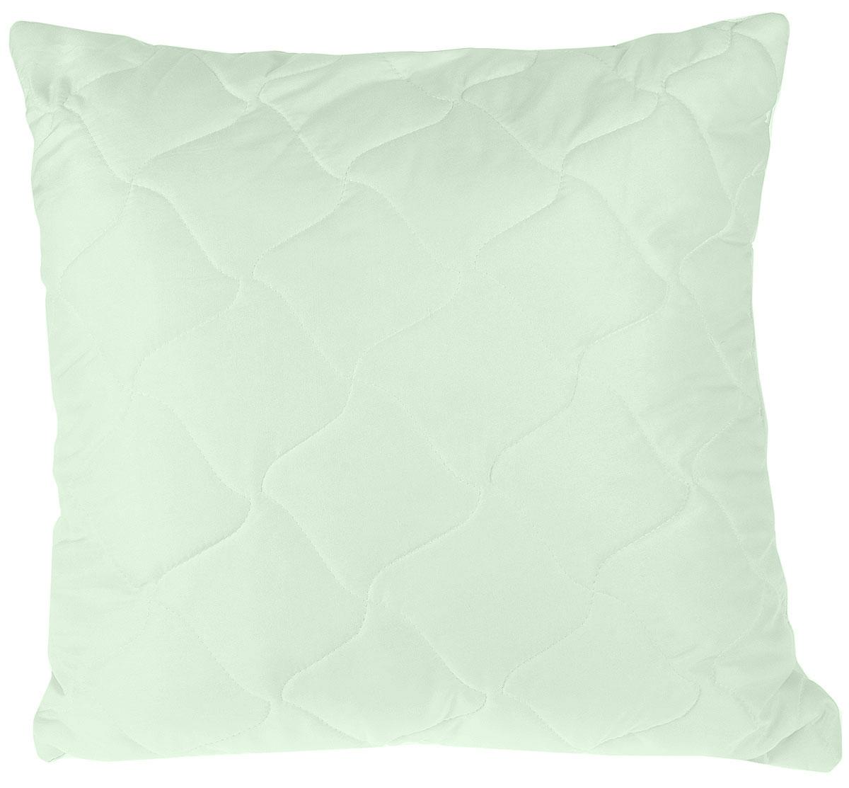 Подушка Lara Home Алоэ Вера, цвет: зеленый, 68 х 68 см85270Наполнитель: силиконизированное волокно с пропиткой Алоэ Вера