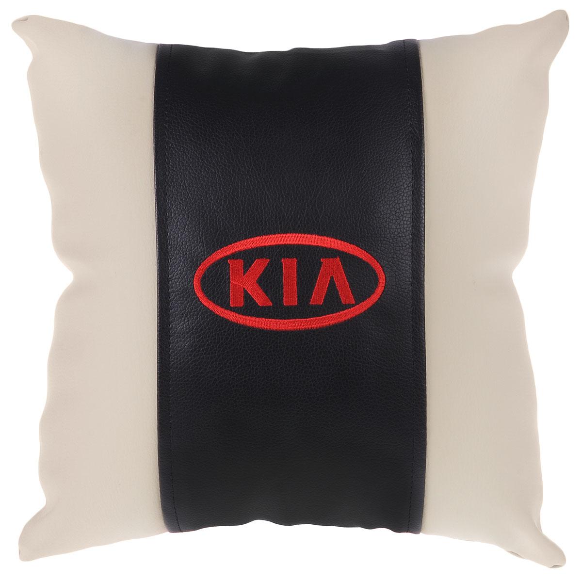 Подушка на сиденье Autoparts Kia, цвет: молочный, 30 х 30 смМ054_молочныйПодушка на сиденье Autoparts Kia, цвет: молочный, 30 х 30 см