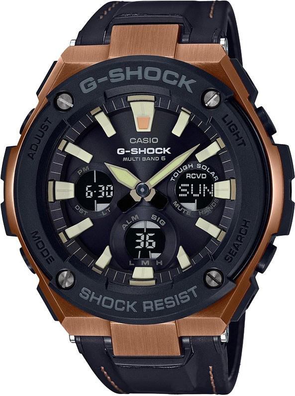Наручные часы мужские Casio G-Shock, цвет: черный, коричневый. GST-W120L-1AGST-W120L-1A