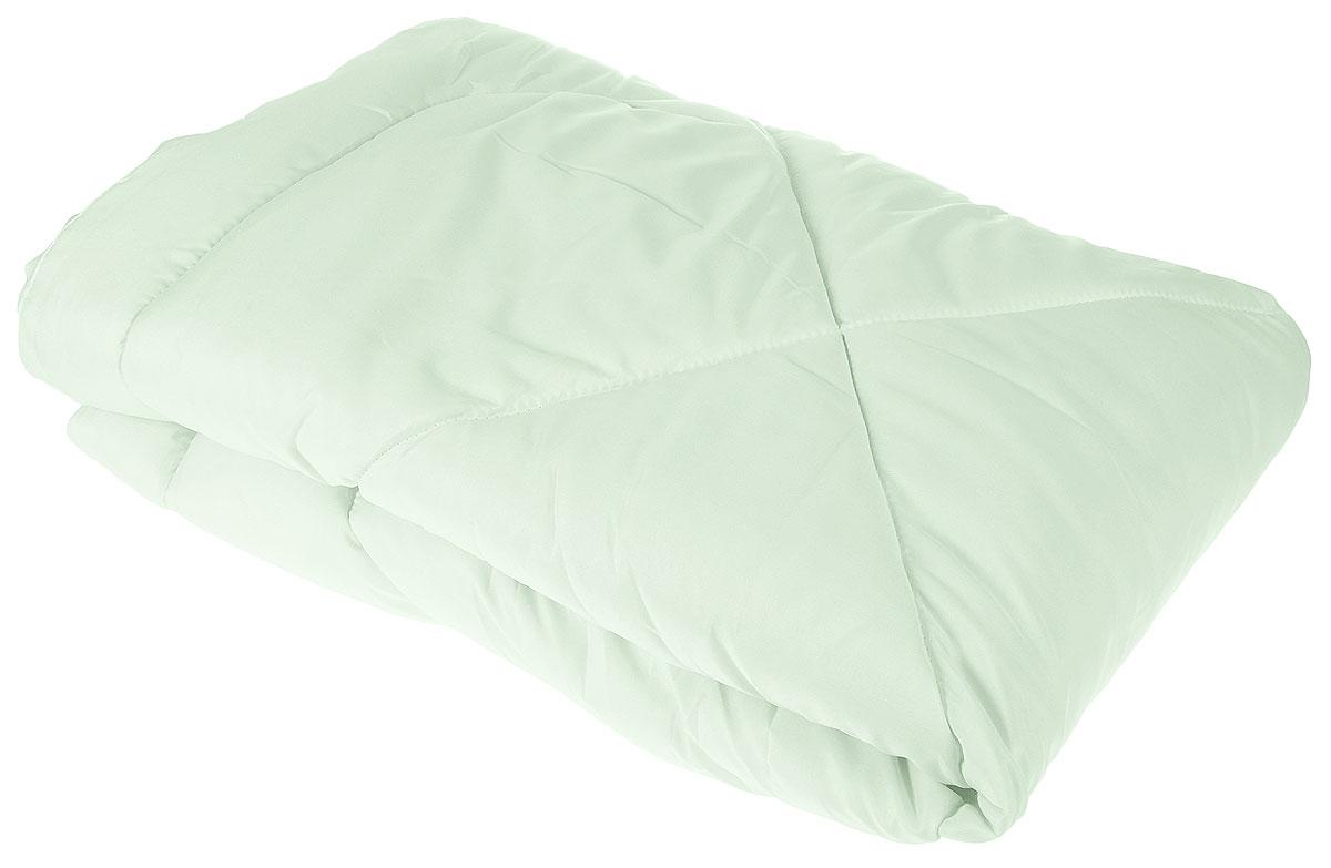 Одеяло Lara Home Bamboo, всесезонное, цвет: зеленый, 140 х 205 см87107Наполнитель: пласт силиконизированное волокно