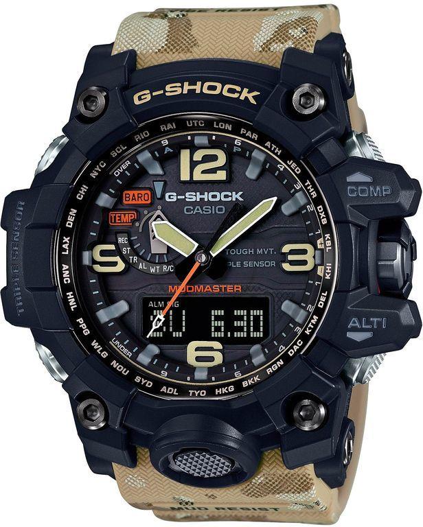 Наручные часы мужские Casio G-Shock, цвет: черный, песочный. GWG-1000DC-1A5GWG-1000DC-1A5