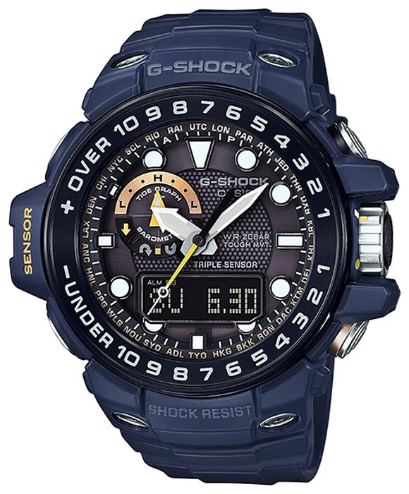 Наручные часы мужские Casio G-Shock, цвет: синий, черный. GWN-1000NV-2AGWN-1000NV-2A