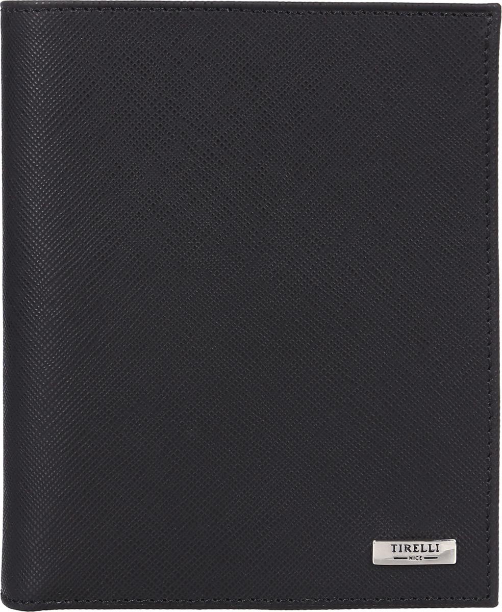 Портмоне мужское Tirelli, цвет: черный. 15-312-0415-312-04Вертикальное мужское портмоне Tirelli изготовлено из натуральной кожи. Портмоне оформлено фирменным логотипом. Внутри имеется 1 отделение для купюр, кармашек на кнопке для монет, 3 прорезных кармана для хранения пластиковых карт, визиток, дисконтных карт и т. п. и 3 потайных кармашка. Такое портмоне не только поможет сохранить внешний вид ваших документов и защитит их от повреждений, но и станет ярким аксессуаром, который подчеркнет ваш образ. Изделие упаковано в подарочную коробку синего цвета с логотипом фирмы Tirelli.
