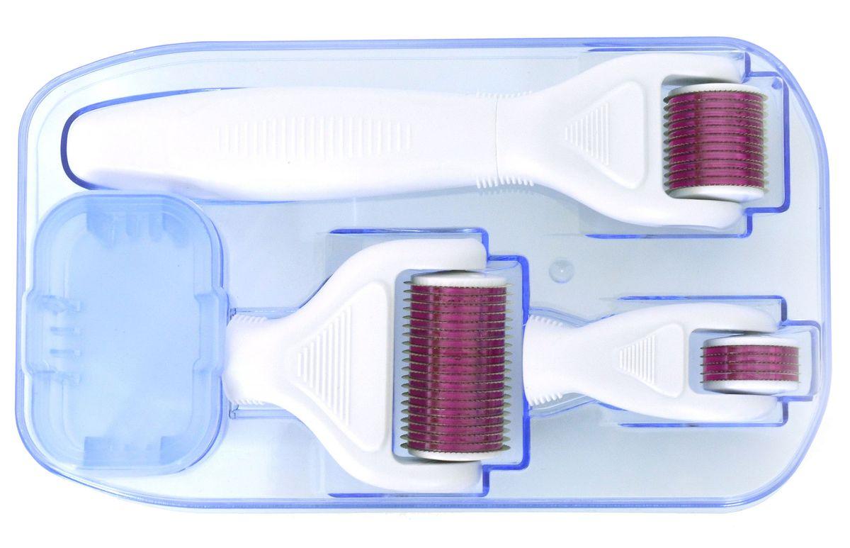 Welss мезороллер 4 в 1 MR50/MR100/MR150MR50/MR100/MR150Мезороллер 4 в 1 Welss MR50/MR100/MR150: 3 сменные головки мезороллера с различным количеством иголок 300 шт./720 шт./1200 шт. Система упакована в герметичный стерильный пакет. Имеет емкость для антисептика с фиксацией положения головки ролика. • 1200 игл для использования на теле – 1,5 мм • 720 игл для использования на лице – 1,0 мм • 300 игл для использования вокруг глаз – 0,5 мм