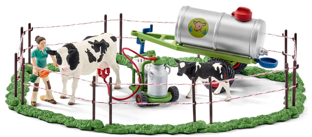 Schleich Игровой набор Семья коров на пастбище