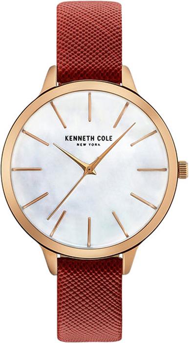 Наручные часы женские Kenneth Cole, цвет: красный. KC15056004KC15056004Наручные часы Kenneth Cole, корпус и задняя крышка из стали