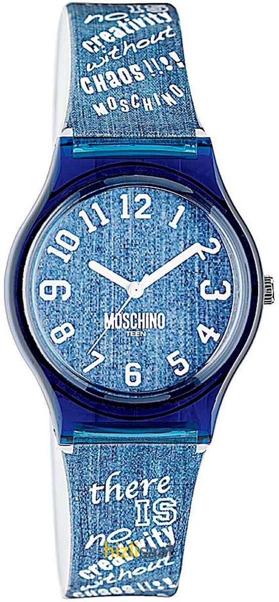 Наручные часы для девочки Moschino, цвет: синий. MW0311MW0311Наручные часы Moschino, кварцевые, корпус из пластика