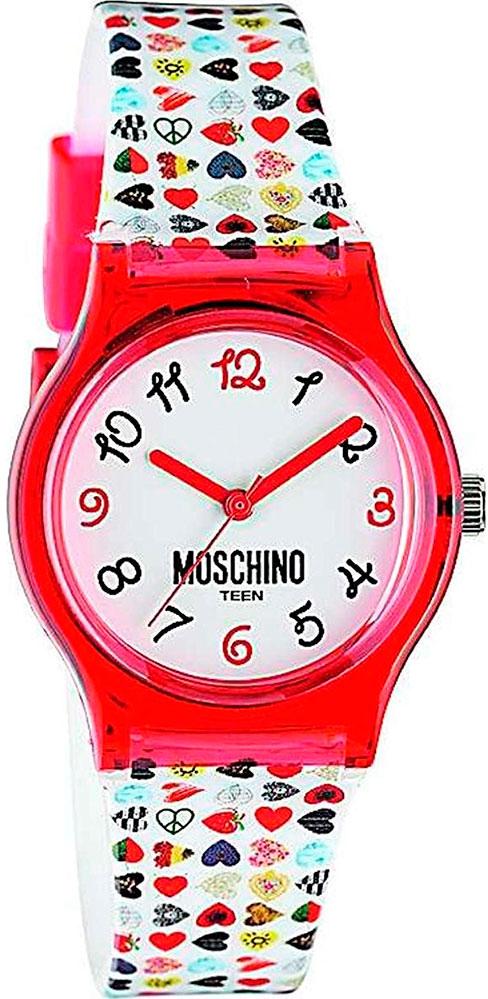 Наручные часы для девочки Moschino Teen, цвет: красный. MW0320MW0320Наручные часы Moschino, кварцевые, корпус из пластика