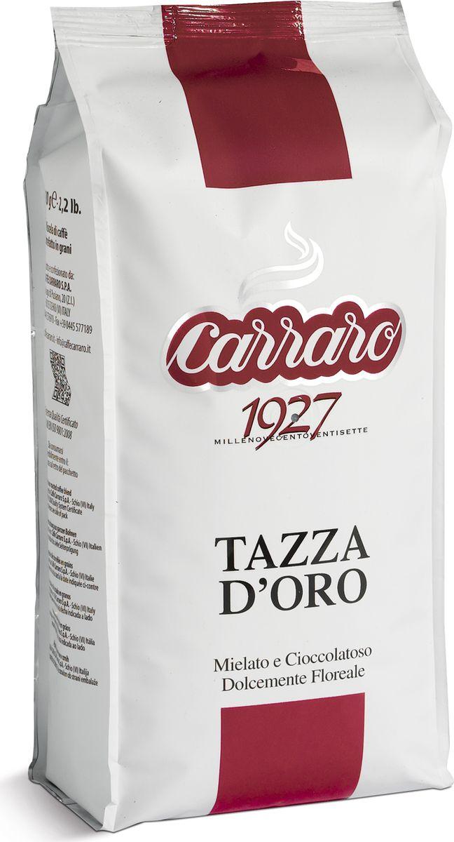 Carraro Tazza D`Oro кофе в зернах, 1 кг8000604001153Кофе Карраро Тазза Де Оро - натуральный жареный высший сорт, в зернах. Средняя обжарка. Арабика - 90%, Робуста - 10%.
