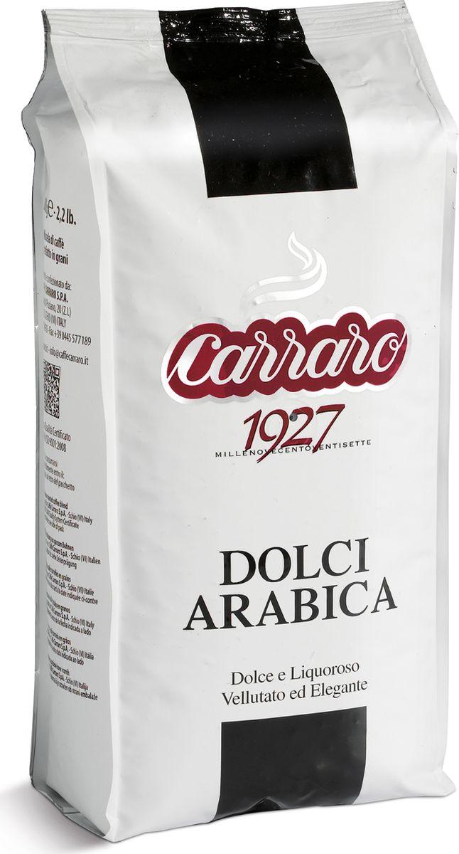 Carraro Dolci Arabica кофе в зернах, 1 кг8000604001368Кофе Карраро Долче Арабика - натуральный жареный высший сорт, в зернах. Средняя обжарка. Арабика - 100%