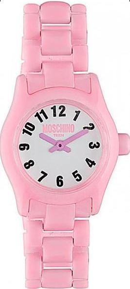 Наручные часы для девочки Moschino Teen, цвет: розовый. MW0325MW0325Наручные часы Moschino, кварцевые, корпус из пластика