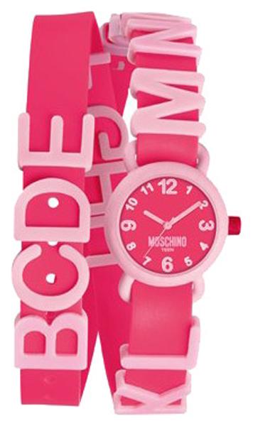 Наручные часы для девочки Moschino, цвет: розовый. MW0327MW0327Наручные часы Moschino, кварцевые, корпус из пластика