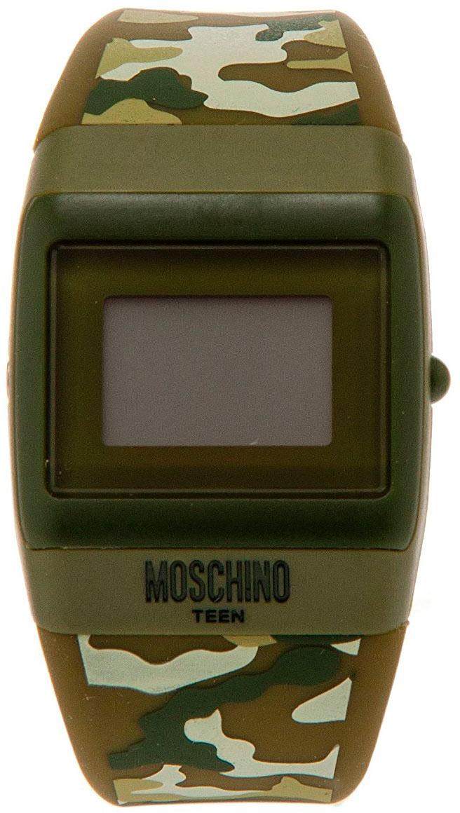 Наручные часы для мальчика Moschino, цвет: зеленый. MW0333MW0333Наручные часы Moschino, кварцевые, корпус из пластика