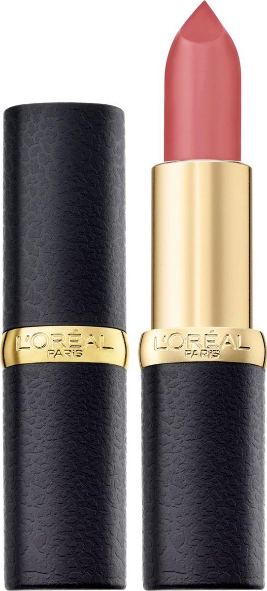 LOreal Paris Матовая губная помада Color Riche, оттенок 103, Розовая пастель, 4,5 млA9107500Насыщенные оттенки помад для губ Колор Риш для абсолютно матового результата. Ухаживающая формула создает матовый эффект на губах, увлажняя их: масло камелии способствует комфортному нанесению помады, масло жожоба позволяет продукту долго оставаться на губах и не выходить за их контур. 10 самых матовых оттенков. Чувственные, изысканные, с Парижским шиком.