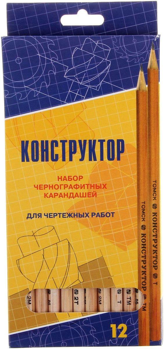 Сибирский Кедр Набор карандашей чернографитных Конструктор 12 шт1069031