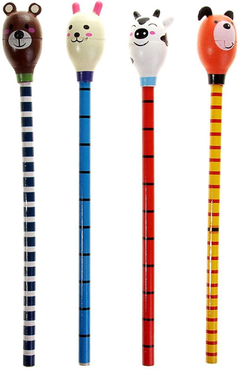Набор карандашей чернографитных Маракас 4 шт160089Не секрет, что больше всего на свете малыши любят играть. Веселые карандаши с игрушками, без сомнения, станут любимым предметом в процессе обучения. Карандаш в виде маракаса, набор 4 штуки – достойный подарок малышу, который он, буквально, не захочет выпускать из рук! Яркие и красивые, такие карандаши изготовлены из качественных материалов с использованием безопасного сырья, а значит, полностью безвредны для детей. Приобретайте карандаши-игрушки для вашего ребенка по цене, несопоставимой с ценностью его радости.