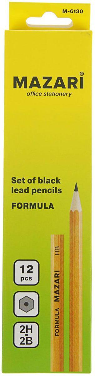 MAZARi Набор карандашей чернографитных Formula 12 шт2362994