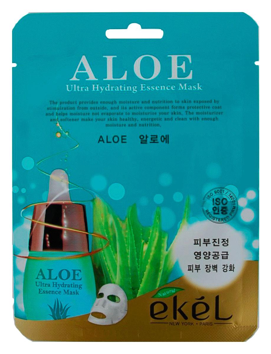 Ekel Маска тканевая с экстрактом алое, 25 гр.538785Ekel Aloe Ultra Hydrating Essence Mask - Интенсивно увлажняющая тканевая маска с экстрактом алоэ. Является прекрасным увлажнителем, улучшает кровообращение, обладает противовоспалительным свойством, снимает раздражение, стимулирует процесс регенерации клеток кожи. Кроме того, маска с алоэ оказывает очищающее и освежающее действие. Сок алоэ обладает многими полезными свойствами, в том числе и лечебными. Он великолепно очищает и разглаживает кожу, помогает избавиться от прыщей и угревой сыпи.