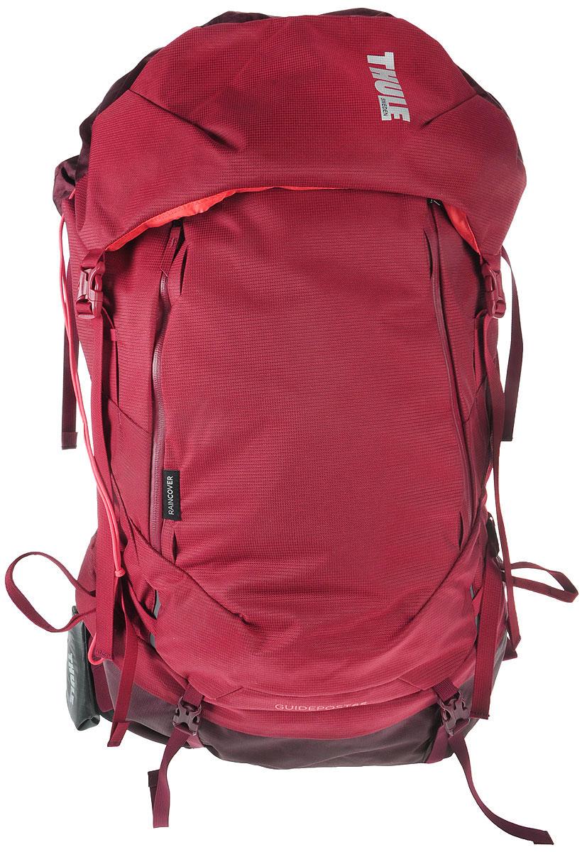 Рюкзак туристический женский Thule Guidepost, цвет: бордовый, 65 л222203Удобный рюкзак Thule Guidepost отличается настраиваемой системой крепления TransHub, обеспечивающей идеальную посадку, поворачивающимся набедренным ремнем, который позволяет рюкзаку повторять ваши движения, специальными наплечными и набедренными ремнями для женщин и крышкой, способной трансформироваться в дополнительный рюкзак, который поможет вам покорить любую вершину. Легкая регулировка ремней для торса на 15 см обеспечивает идеальную посадку, а наплечные ремни QuickFit позволяют выбрать из один из трех вариантов длины наплечных ремней. Система крепления Transhub с алюминиевой опорой и проволочным каркасом из пружинной стали позволяют перенести вес рюкзака на бедра, обеспечивая более удобную переноску. Поворачивающийся набедренный ремень позволяет рюкзаку повторять ваши движения, обеспечивая большую естественность передвижения и улучшенный баланс. Съемная крышка трансформируется в просторный рюкзак 24 л, позволяя сочетать два рюкзака в одном. Удобный доступ к содержимому...