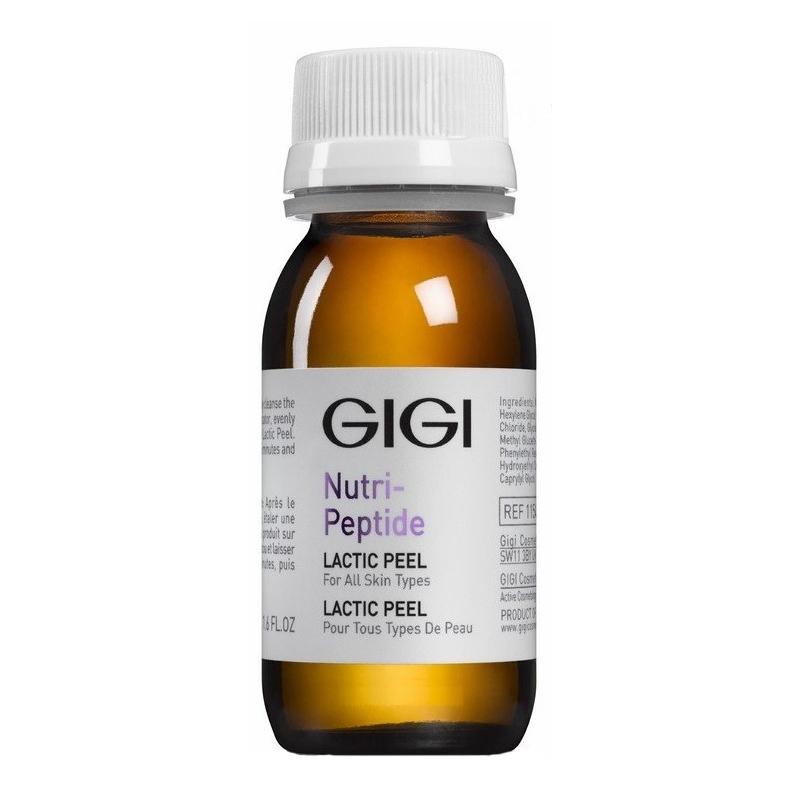 GIGI Пептидный молочный пилинг Nutri-Peptide Lactic Peel, 50 млgi11542Молочный пилинг содержит молочную и гликолевую кислоты в концентрации 13,5%. Благодаря молекулам со средней молекулярной массой, ускоряется процесс отшелушивания при непродолжительном воздействии пилинга на кожу. Молочная кислота является важной составляющей механизма поддержания естественной влажности кожи, поэтому ее применение не вызывает раздражения кожи. После пилинга кожа становится более гладкой и мягкой на ощупь, выглядит сияющей и свежей. Улучшается естественный баланс влажности эпидермиса. Осветляются пигментные пятна и общий тон кожи. Сокращается глубина морщин. Кожа приобретает свежий и здоровый вид. Прекрасно подходит для любого типа кожи. Процедуру пилинга можно проводить в любое время года! Активные ингредиенты: Молочная кислота, гликолевая кислота.