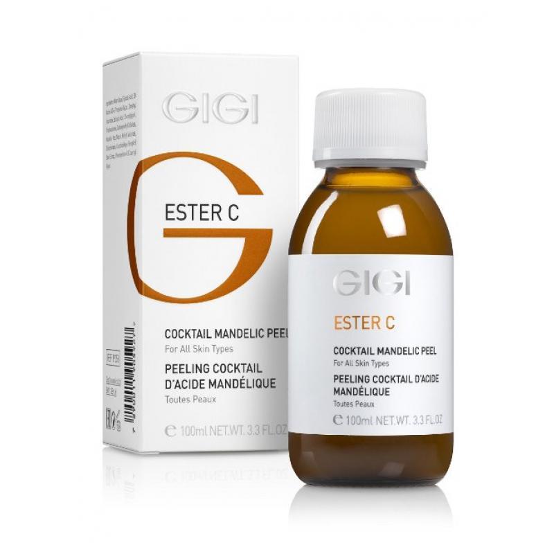 GIGI Пилинг-коктейль миндальный Ester C Cocktail Mandelik Peel, 100 млgi19058Данное средство относится к разряду сильнодействующих препаратов. Уникальный пилинг омолаживает кожу кистей рук, зоны декольте, выравнивает цвет и текстуру кожи; подготавливает кожу для поглощения активных лечебных ингредиентов и отшелушивает мертвые клетки, насыщает кожу витаминами и питательными веществами. Осветляет кожу, делает кожу шелковистой. Результат: способствует быстрой эксфолиации мертвых клеток рогового слоя, устраняет сухость кожи, повышает упругость дермы, разглаживает морщины, сужает поры, нормализует работу сальных желез, выравнивает рельеф и тон кожи. Активные ингредиенты: миндальная кислота, аскорбиновая кислота, экстракт семян тыквы.