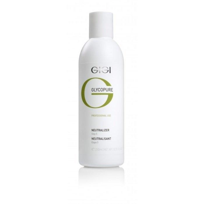 GIGI Нейтрализатор Glycopure, 250 млGIGI565 ступень: Neutralizer Нейтрализатор, рН=10,5-11 Прозрачный щелочной лосьон предназначен для нейтрализации гликолевой кислоты после завершения процедуры пилинга. Активные ингредиенты: Гидроксиэтилцеллюлоза, пропиленгликоль, триэтаноламин, вода.