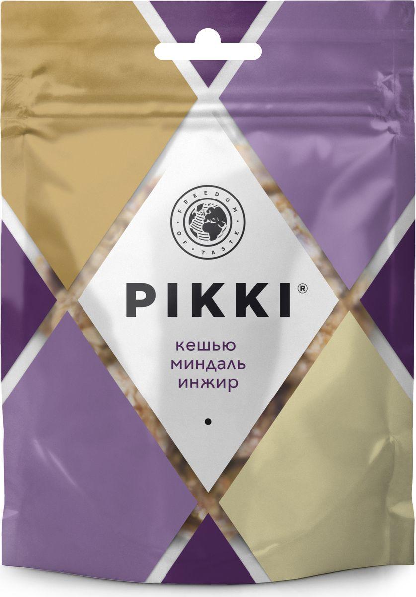 Pikki Кешью-Миндаль-Инжир батончик орехово-фруктовый, 50 гУТ040810412Полезные снеки из орехов, злаков и сухофруктов для быстрого перекуса.