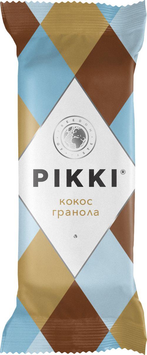 Pikki Кокос-Гранола батончик орехово-фруктовый, 35 гУТ040810407Полезные снеки из орехов, злаков и сухофруктов для быстрого перекуса.