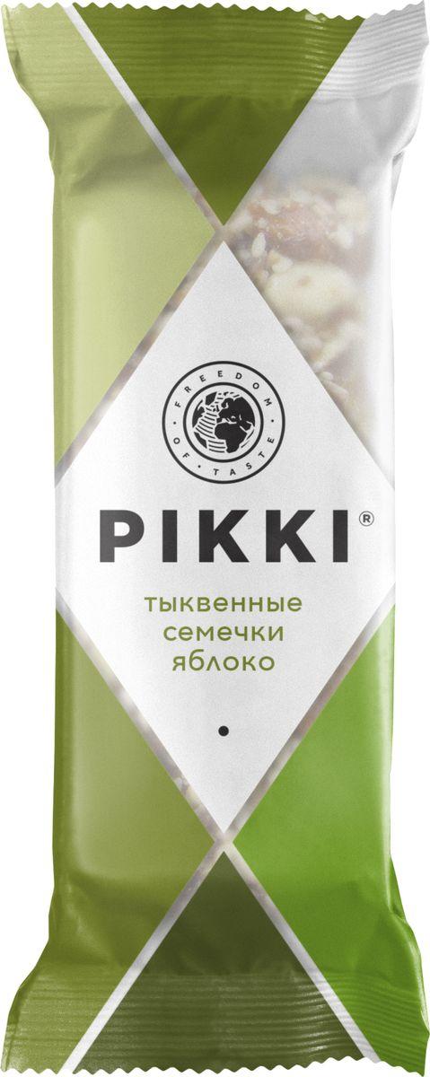 Pikki Тыквенные семечки-Яблоко батончик орехово-фруктовый, 35 гУТ040810401Полезные снеки из орехов, злаков и сухофруктов для быстрого перекуса.