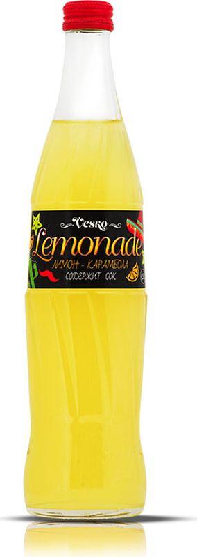 Vesko Лимон-Карамбола лимонад, 0,5 л389913014Освежающий безалкогольный газированный напиток со вкусом лимона и карамболы с приятным цитрусовым ароматом. Хранить в сухих, чистых помещениях при относительной влажности воздуха не более 75%. При температуре от 0`С до +20`С. Открытую бутылку хранить в холодильнике, напиток употребить в течение 6 часов. Избегать воздействия прямого солнечного света и других источников тепла. Пейте охлажденным! Допускается осадок, обусловленный особенностями используемого сырья.