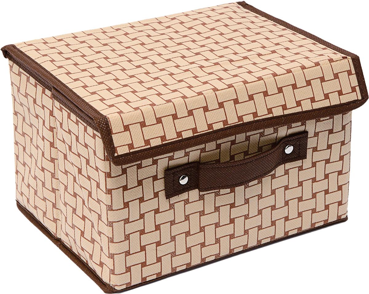 Коробка Homsu Pletenka, с крышкой, 19 х 25 х 16 смHOM-774Универсальная коробочка для хранения любых вещей. Оптимальный размер позволяет хранить в ней любые вещи и предметы. Имеет жесткие борта и крышку, что является гарантией сохранности вещей. 190x250x160