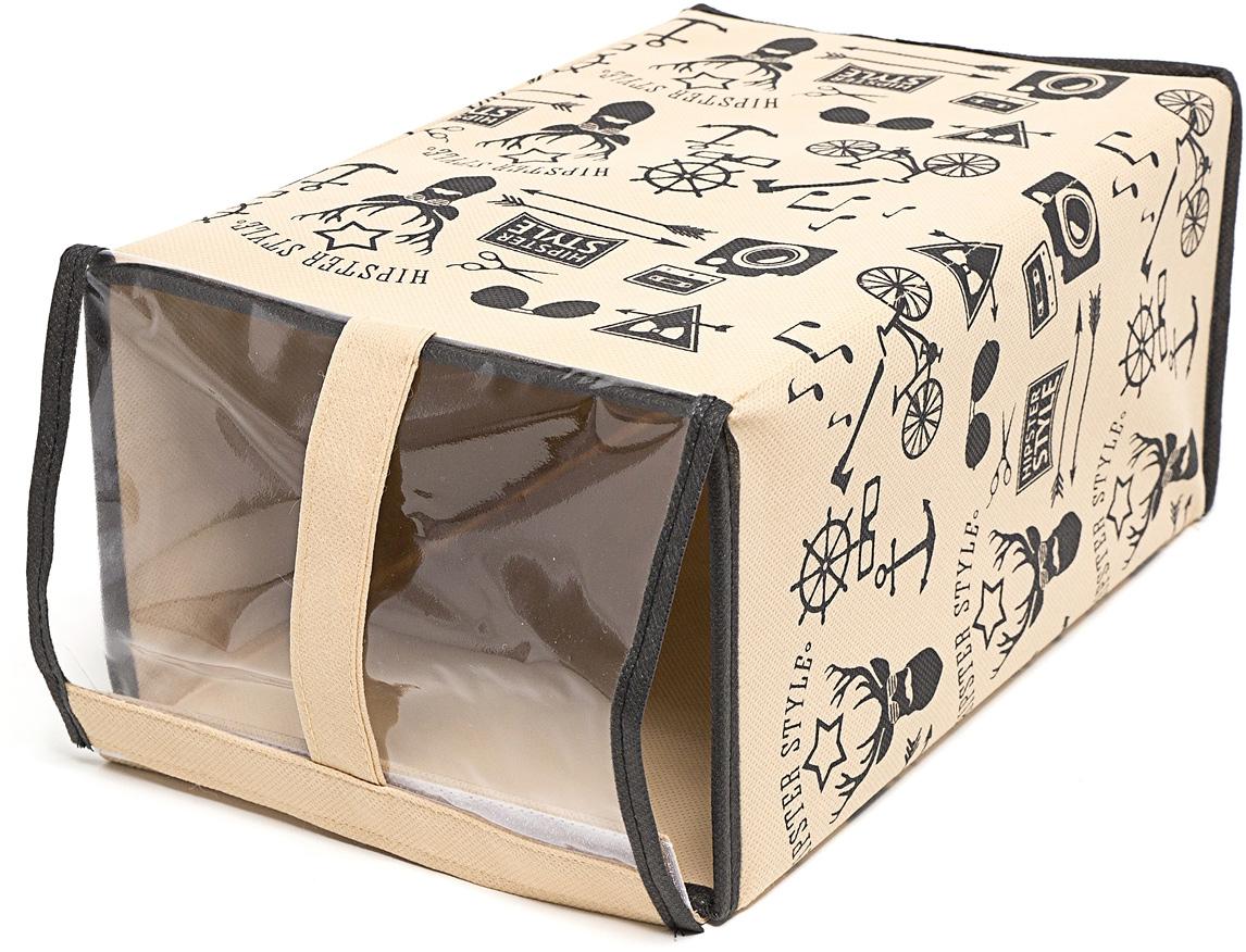 Набор коробок для обуви Homsu Hipster Style, 33 х 22 х 16 см, 3 штDEN-86Этот комплект - идеальный вариант для хранения обуви, вместо стандартной коробки. Прозрачная крышка позволяет видеть ,какая именно обувь находится внутри. Коробки удобно хранить друг на друге или в один ряд. Имеет жесткие борта, что является гарантией сохраности вещей. 330x220x160; 330x220x160; 330x220x160