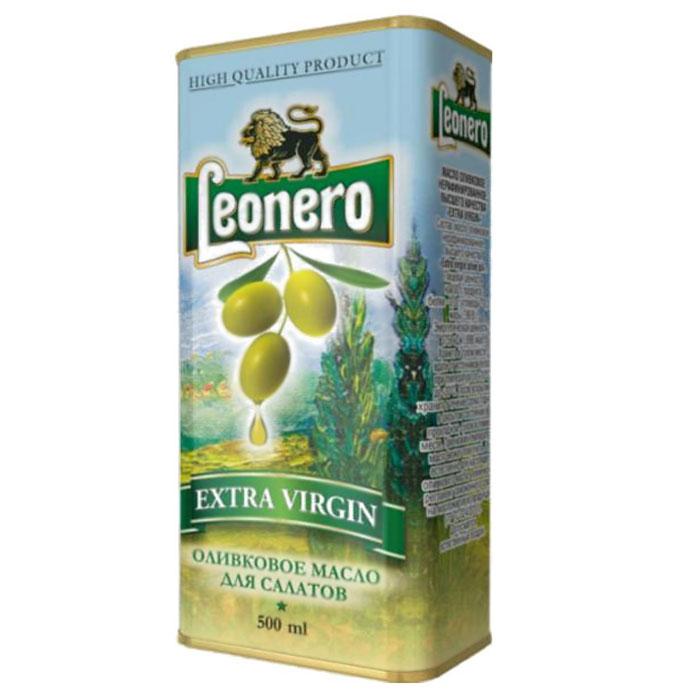 Leonero оливковое масло нерафинированное для салата, 500 ггзж004Великолепное оливковое масло произведено на территории Испании по традиционной технологии из классических сортов оливок.