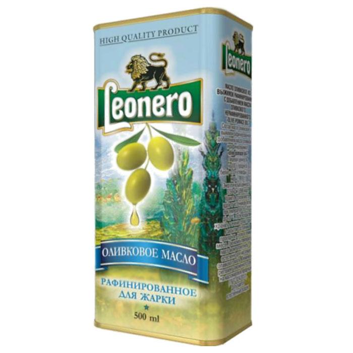 Leonero оливковое масло рафинированное для жарки, 500 ггзж006Великолепное оливковое масло произведено на территории Испании по традиционной технологии из классических сортов оливок.