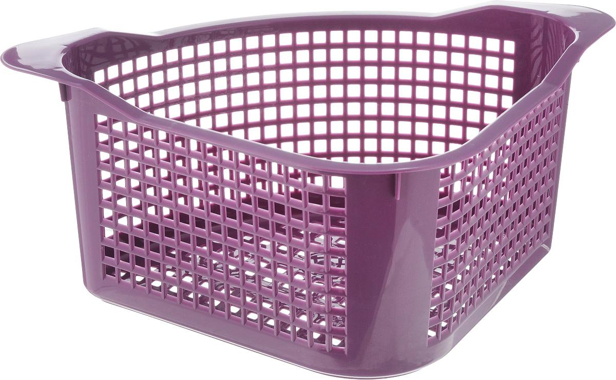 Корзинка универсальная Econova, угловая, цвет: фиолетовый, 29 х 18 х 12 см718343_фиолетовыйКорзинка универсальная Econova, угловая, цвет: фиолетовый, 29 х 18 х 12 см