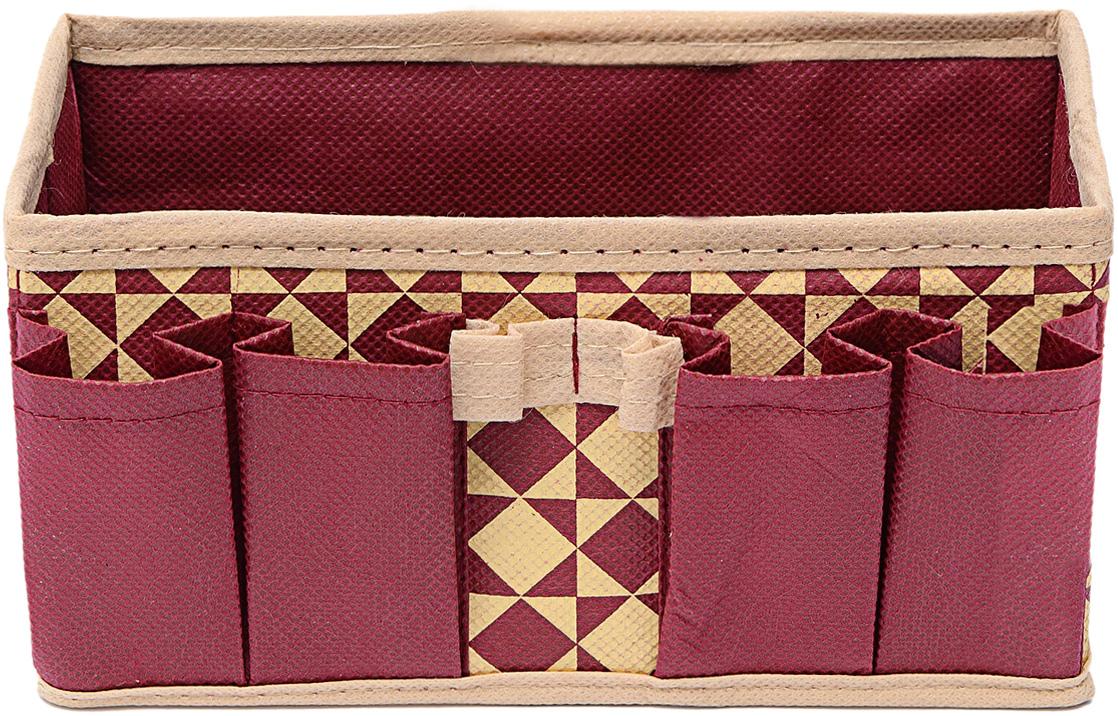 Органайзер Homsu Bordo, для украшений и мелочей, 20 х 10 х 10 смHOM-781Универсальная коробочка для хранения канцелярии, бижутерии, косметики. 200х100х100