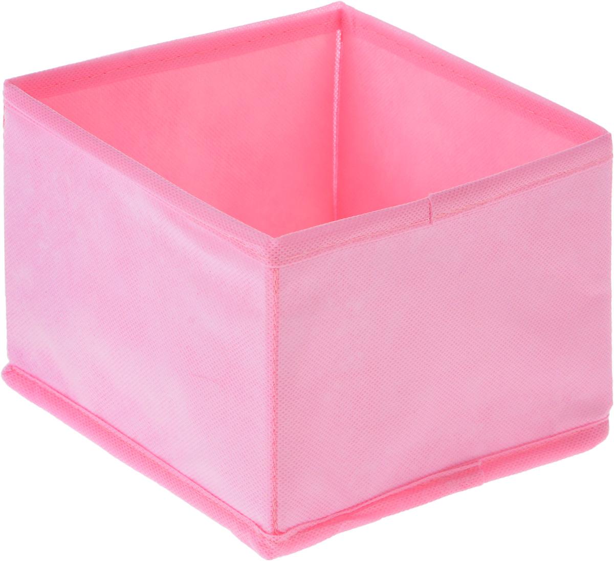 Органайзер Все на местах Minimalistic, цвет: розовый, 15 х 15 х 11 см1014058.Органайзер Все на местах Minimalistic поможет удобно хранить вещи. Изделие выполнено из высококачественного нетканого материала, который обеспечивает естественную вентиляцию, позволяя воздуху проникать внутрь, но не пропускает пыль. Вставки из ПВХ хорошо держат форму. Изделие содержит одну большую секцию. Органайзер легко раскладывается и складывается. Оригинальный дизайн придется по вкусу ценителям эстетичного хранения. Размер органайзера в разложенном виде: 15 х 15 х 11 см.