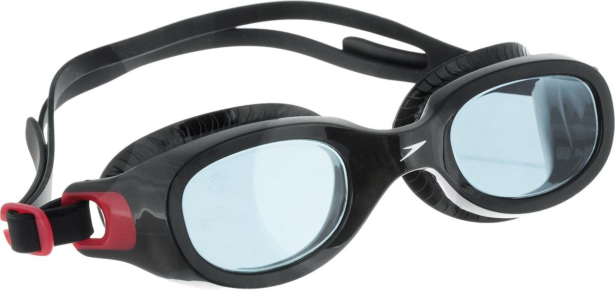 Очки для плавания Speedo Futura Classic, цвет: красный, серый10898B5720
