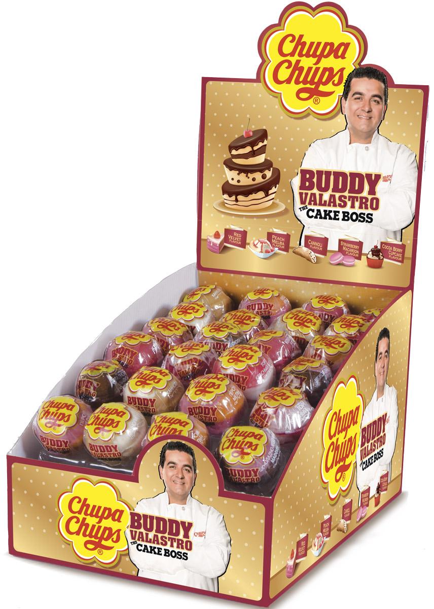 Chupa Chups XXL Petit карамель ассорти, 24 штуки по 29 г8253275Новый Chupa-Chups XXL с незабываемыми и любимыми вкусами тортиков, пирожных и капкейков.