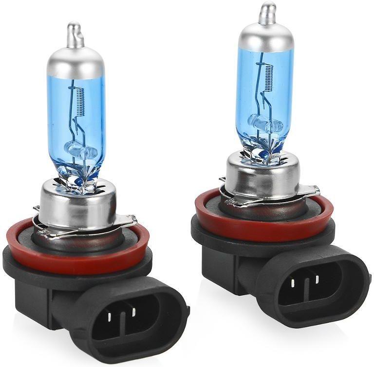 Лампа автомобильная галогенная Clearlight H11 WhiteLight, 2 штMLH11WLWhiteLight. Цветовая температура 4300К. Голубовато-белый свет. Производит такое же впечатление, что и свет стандартных ксеноновых ламп. Идеально подходит для использования в фарах с прозрачным стеклом. Современный дизайн с серебрянным колпачком.