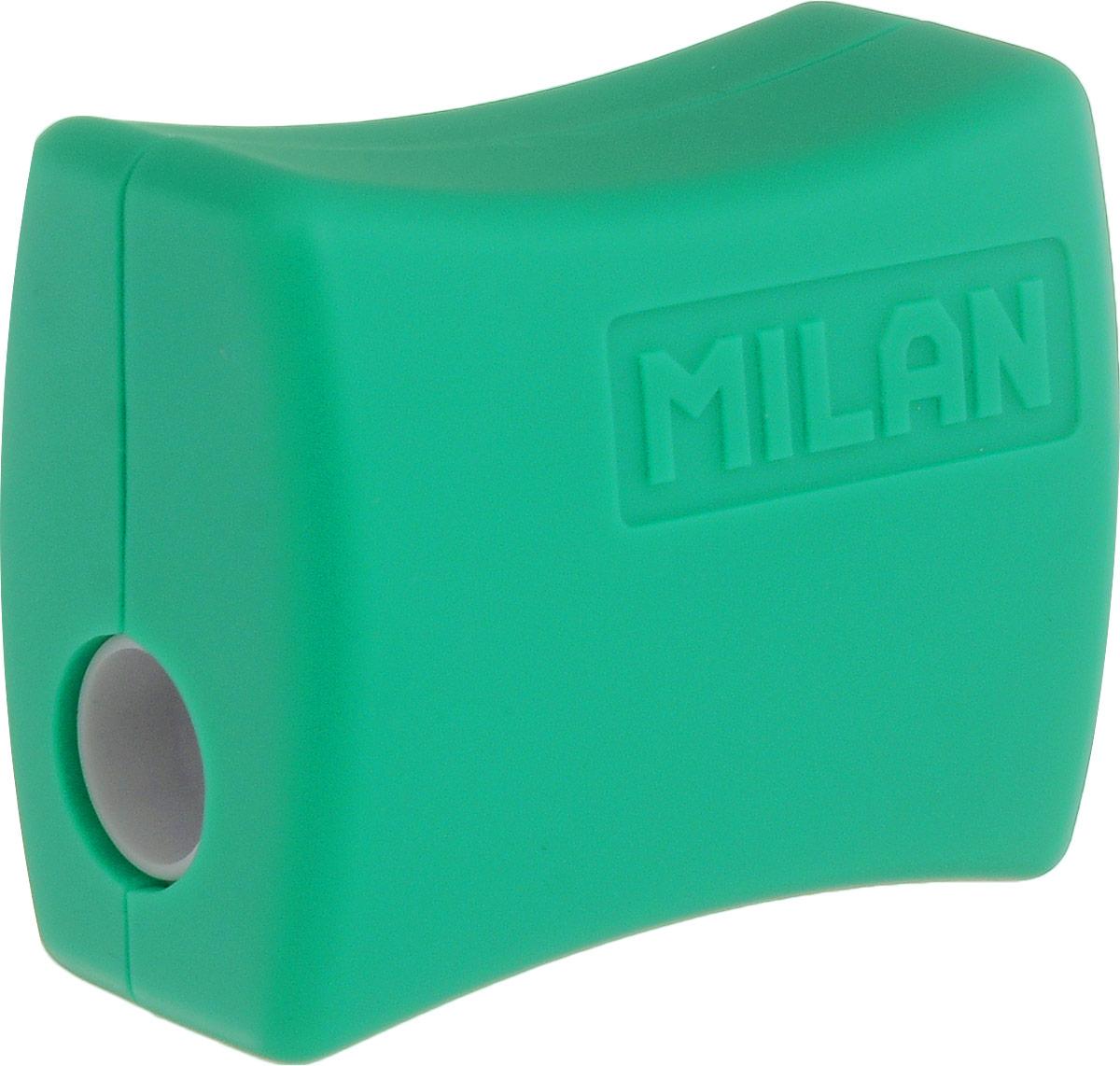 Milan Точилка Double с контейнером цвет зеленый20152918_зеленыйУдобная точилка Milan Double с контейнером оснащена безопасной системой заточки. Эта система предотвращает отделение лезвия от точилки. Идеально подходит для использования в школах. Стальное лезвие острое и устойчиво к повреждению. Идеально подходит для заточки графитовых и цветных карандашей