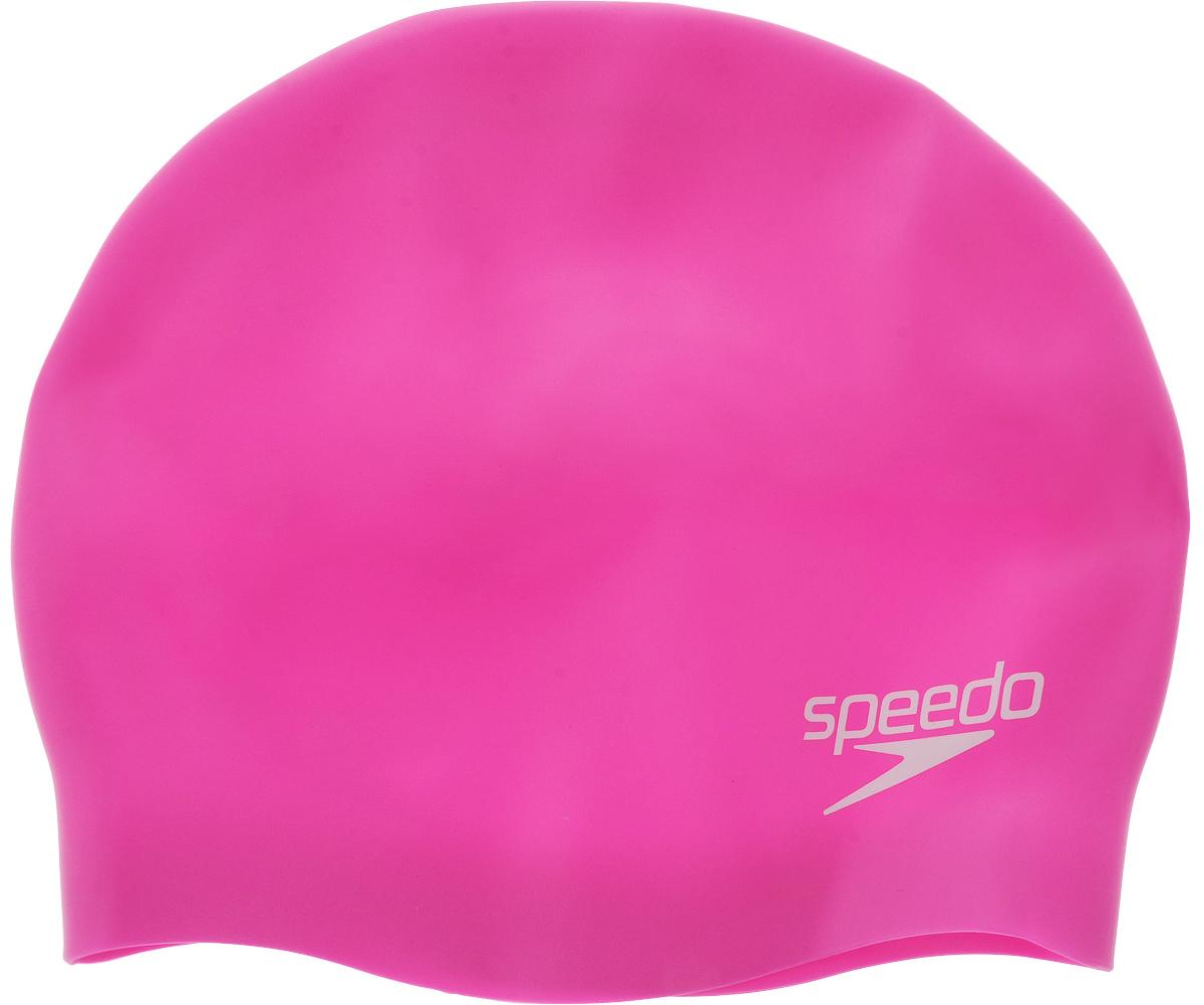"""Шапочка для плавания Speedo """"Plain Moulded Silicone"""", детская, цвет: розовый 70990B4240"""