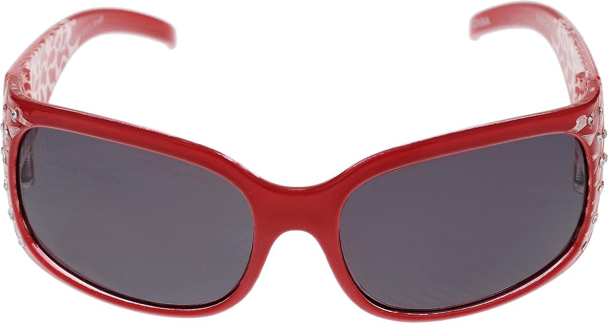Очки солнцезащитные детские Mitya Veselkov, цвет: черный, красный. NYS-9130NYS-9130Стильные солнцезащитные очки Mitya Veselkov выполнены из высококачественного пластика с элементами из металлического сплава. Пластик, используемый при изготовлении линз, не искажает изображение, не подвержен нагреванию и вредному воздействию солнечных лучей. Линзы дополнены защитой от ультрафиолетового излучения UV-400. Оправа очков легкая, прилегающей формы и поэтому обеспечивает максимальный комфорт. Стильные солнцезащитные очки станут прекрасным и модным аксессуаром и порадуют вашего ребенка.