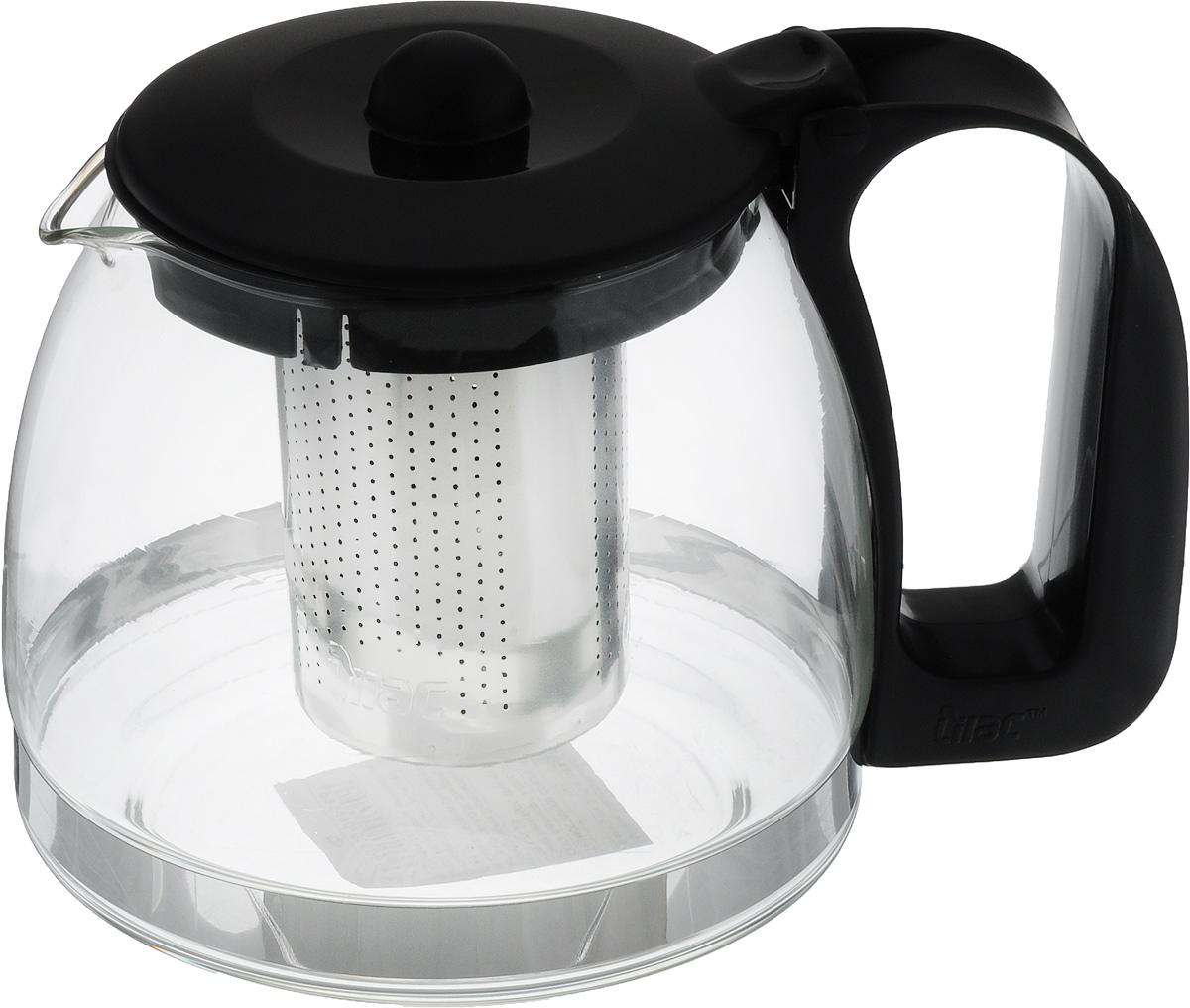 Чайник заварочный Appetite, с фильтром, 700 млS95-1Чайник заварочный Appetite имеет корпус из термостойкого стекла (до 100°С), ручка и крышка изготовлены из пластика, а ситечко - из металла. Изделие отлично подходит для заваривания чая и травяных настоев. Прозрачные стенки позволяют видеть степень заварки. Изделие практично, обладает элегантным дизайном, его удобно использовать. Не использовать в посудомоечной машине и СВЧ. Диаметр основания: 11 см. Высота чайника: 11 см. Диаметр (по верхнему краю): 8 см.