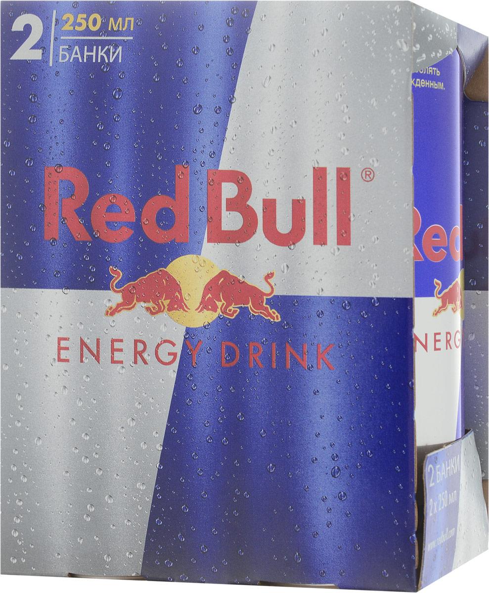 Red Bull энергетический напиток, 2 банки по 250 мл