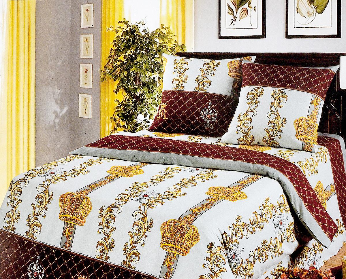 Комплект белья Арт Постель Королевская постель, 2-спальный, наволочки 70х70, цвет: серый, коричневый104_Королевская постельКомплект постельного белья Арт Постель Королевская постель является экологически безопасным для всей семьи, так как выполнен из бязи (натурального хлопка). Комплект состоит из пододеяльника, простыни и двух наволочек. Постельное белье оформлено оригинальным рисунком и имеет изысканный внешний вид. Для производства постельного белья используются экологичные ткани высочайшего качества. Бязь - хлопчатобумажная плотная ткань полотняного переплетения. Отличается прочностью и стойкостью к многочисленным стиркам. Бязь считается одной из наиболее подходящих тканей, для производства постельного белья и пользуется в России большим спросом.